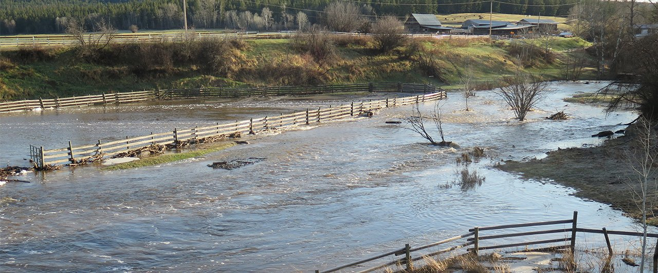 Flooded ranch property