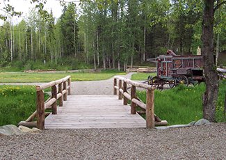 Picture of Cottonwood house accessible trail