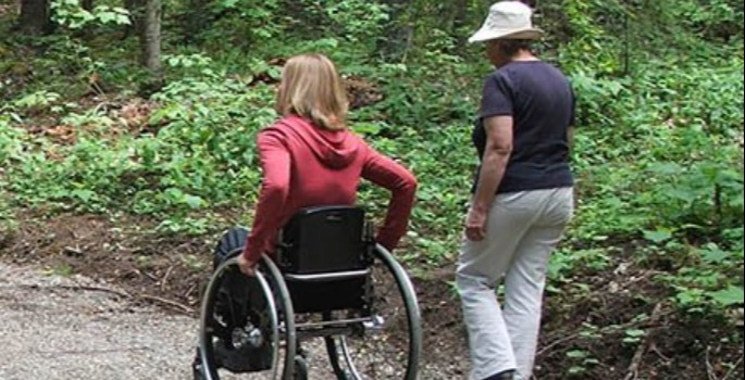 people using low mobility trail