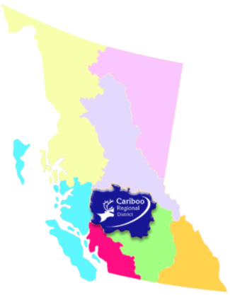 BC map outlining Cariboo Regional District