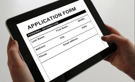 picture of a paper application