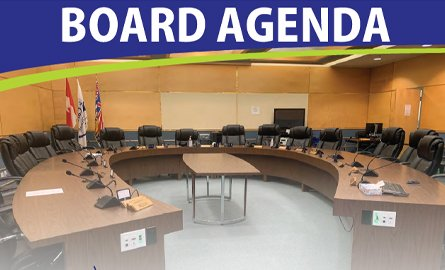 picture of a board agenda